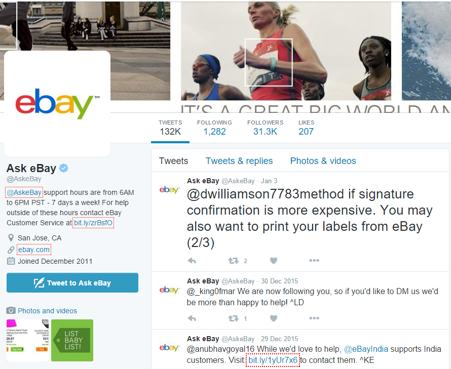 Ask eBay Twitter Account