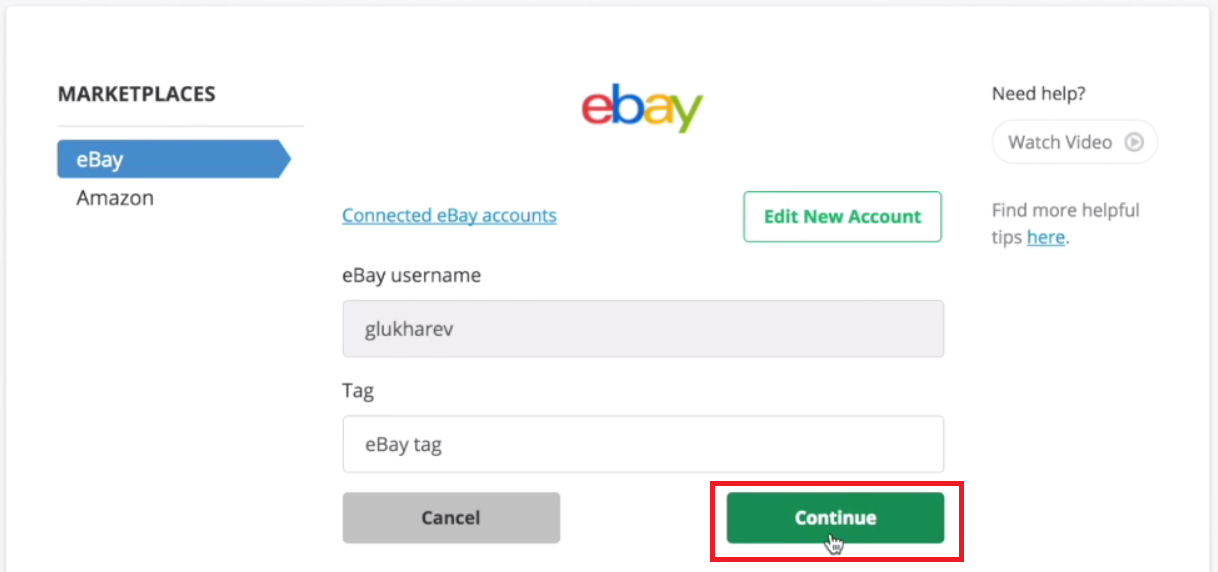Save eBay Tag Changes