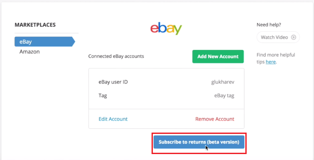 Subscribe to eBay Returns